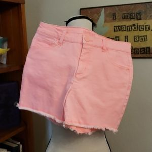Justice Pink Stretch Jean Shorts Size 16